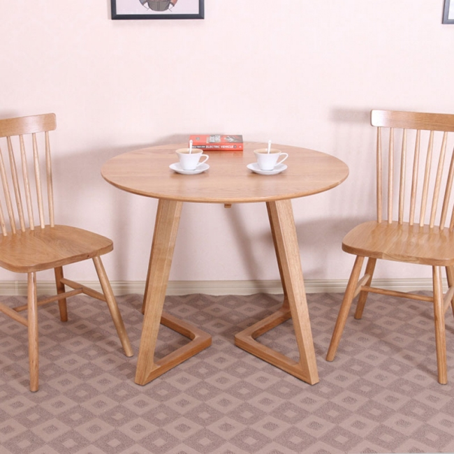 Wooden Furniture Living Room Classical Solid Wood Round Dining Table