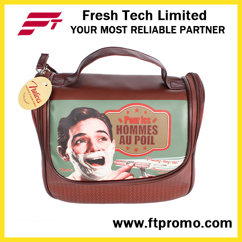 Promotional PVC Leather Cosmetic Bag with Logo