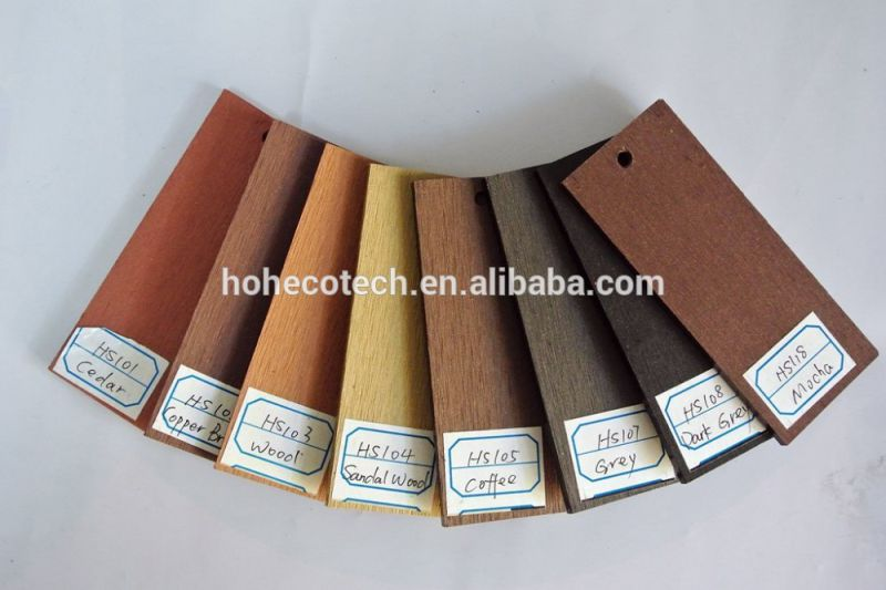 Outdoor Hollow Composite Decking Board Bamboo Flooring Plastic Decking