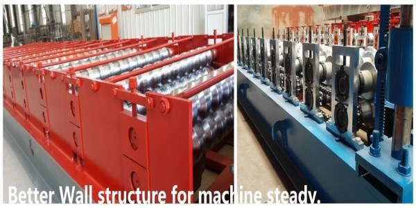 828 Circular Arc Glazed Tile Sheet Roll Forming Machine