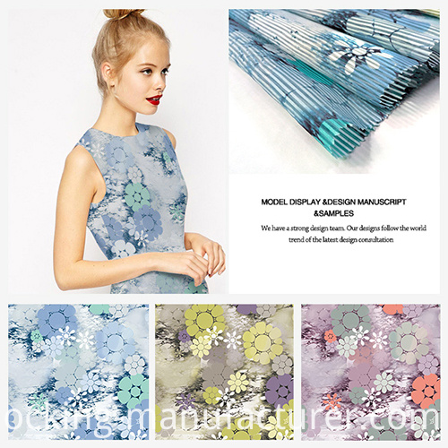 Fashion Ventilate Printing Striped Organza Fabric for Garment, Curtain Voile