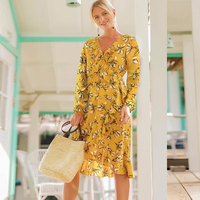 Fashion Casual Printed Dress