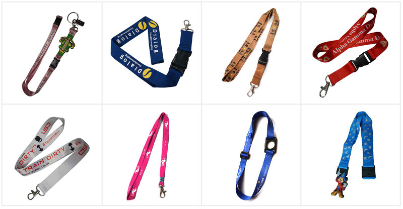 Custom Polyester Lanyard with Printing Logo