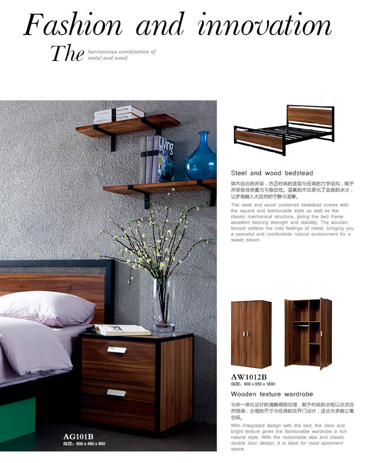 Manufacturer of School Dormitory Furniture Double Bunk Bed