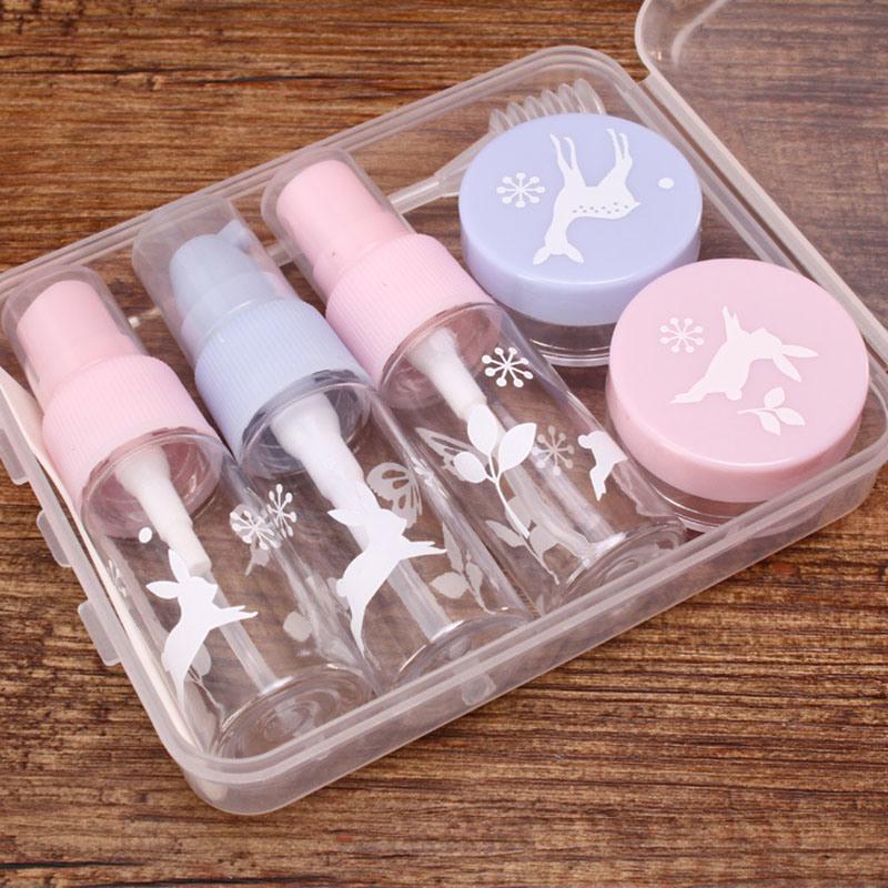 Plastic Travel Set, 15ml Pump and Sprayer Bottle, 10g Jar (PT08)