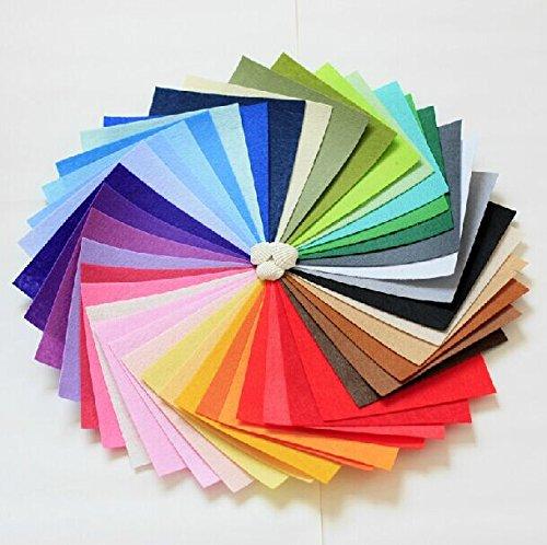 Pastel Assorted Acrylic Craft Felt - 50 Sheets