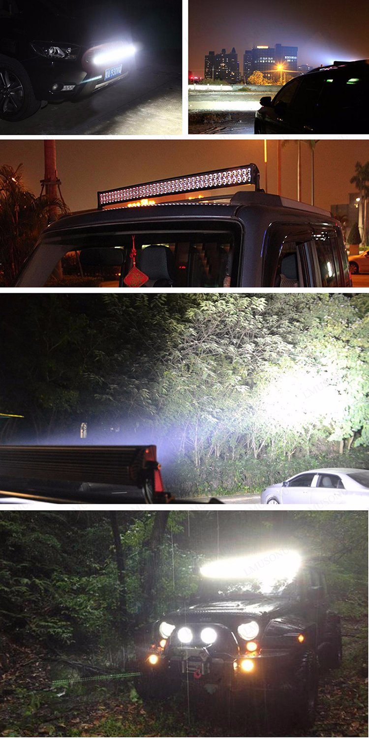 Lmusonu Single Row 11.5 Inch LED Light Bar 60W 4X4 Flood/Spot/Combo Amber White Dual Color Offroad Lights for Truck Boat