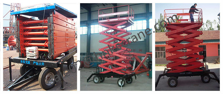 Mobile Hydraulic Scissor Lift Table Used Indoor or Outdoor