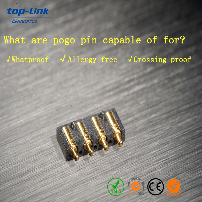 Spring Loaded Pogo Pins with Gold Plating, OEM/ODM Services Welcomed