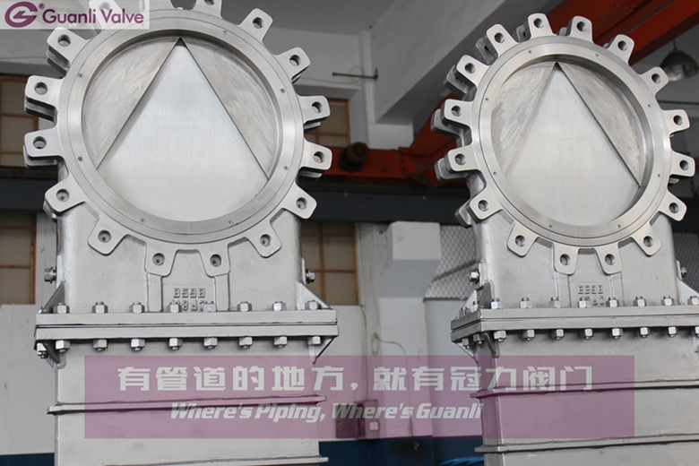 Bonnect Bolted Knife Gate Valve with V Type Delfection Cone