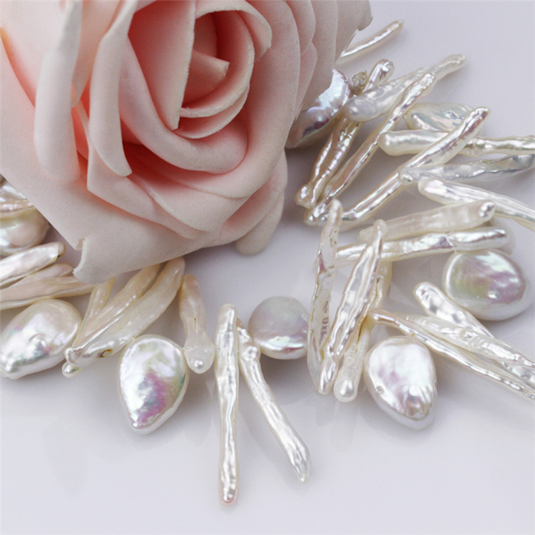 120cm Lomg Baroque and Biwa Pearls Modern Pearl Necklace