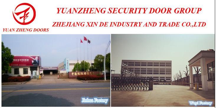 Heat Transfer Print Steel Security Door