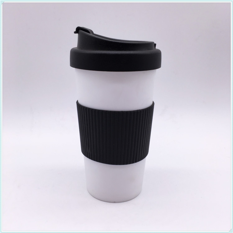 2016 New Product Light Weight Rice Husk Plastic Coffee Mug with Lid