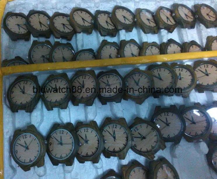 Custom Popular Leather Wooden Watches for Men Women
