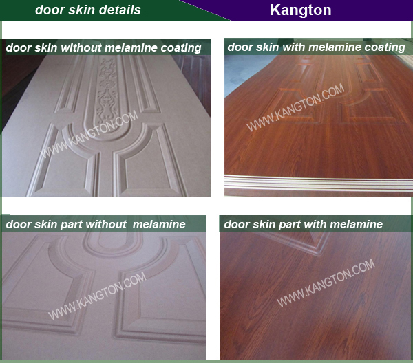 White Primer Coating HDF Moulded Door Skin (primer door skin)