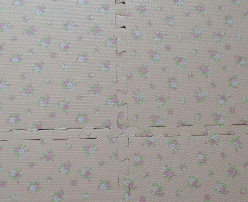 Puzzle Toy Mat, Wood Soft Tiles Mat