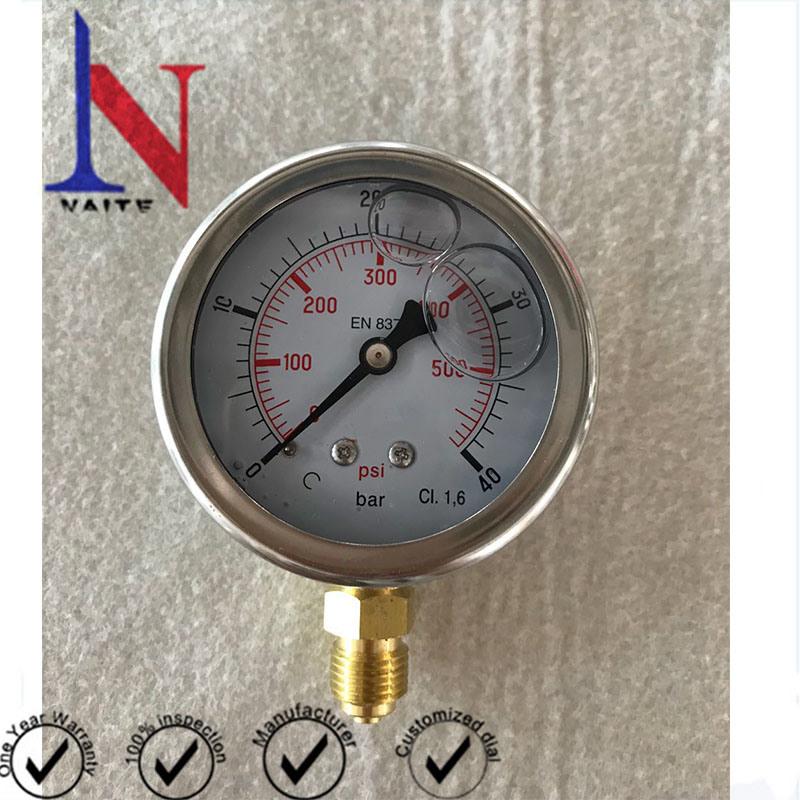 63mm Face Single Needle Lower Mount Pressure Gauge