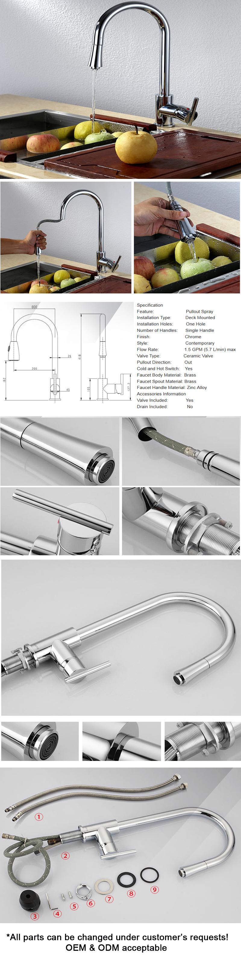 Sanitary Ware Flexible Faucets Kitchen Tap Water Spout Kitchen Mixer