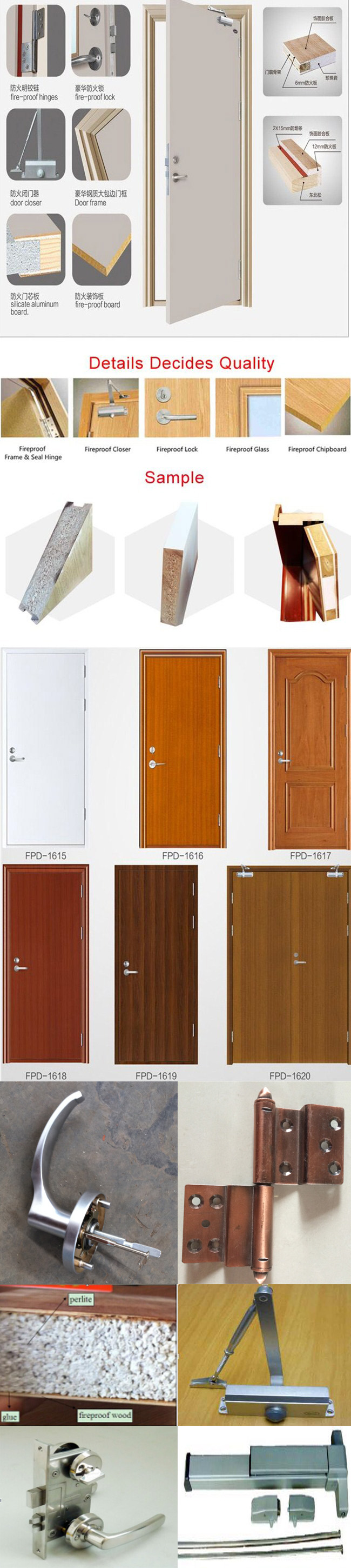 Cheap and High Quality Fire Rated Glass Door