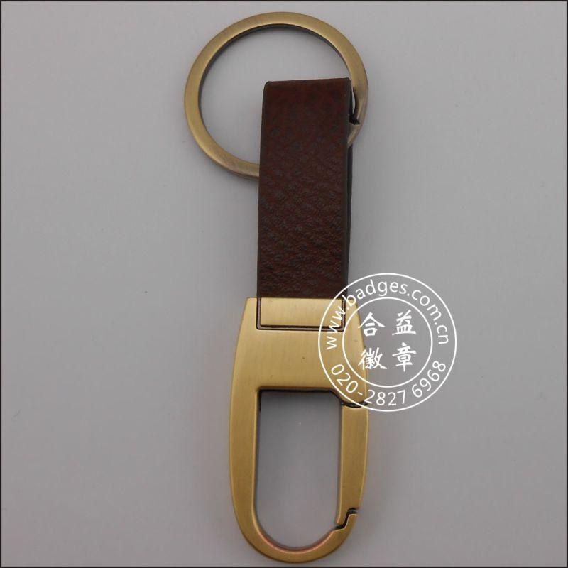 Leather Key Ring, Custom Leather Keychain (GZHY-KA-058)