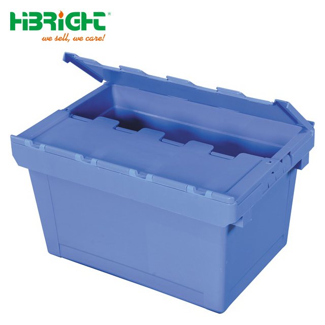 Folding Collapsible Stackable Plastic Moving Logistic Crate for Sale