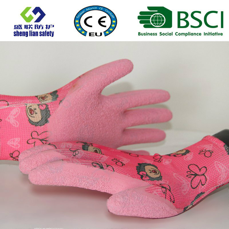 Latex Coated Labor Garden Safety Work Gloves