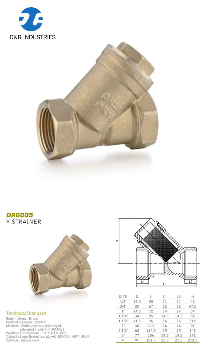 Y Strainer Brass Material Online Sale, Factory Direct Supply 1/2