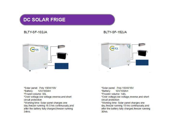 New Product Solar Fridge 93L 140L 190L 230L 282L