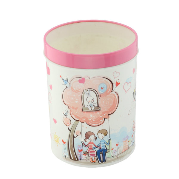 Korean Style Cartoon Printing Plastic Waste Bin (FF-5209)