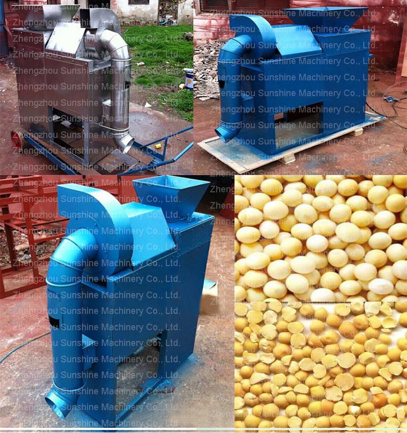 Tk-300S Stainless Steel Soybean Peeler Green Pea Nut Peeling Machine