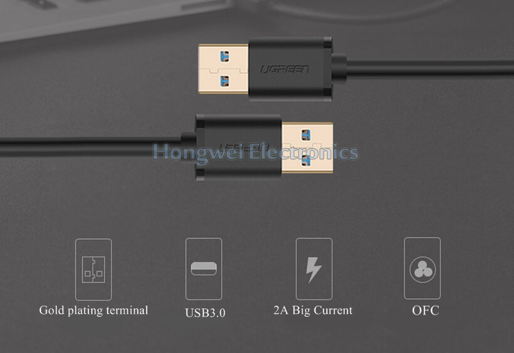 High Speed Double USB 3.0 Male to Male Adapter USB Cable Types
