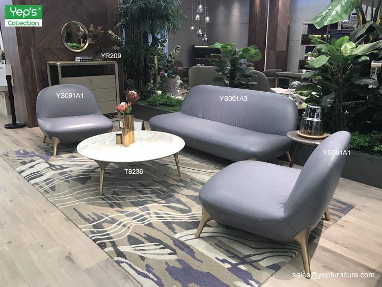 Simple Italian Style Living Room Fabric Sofa Set (YS091SF)