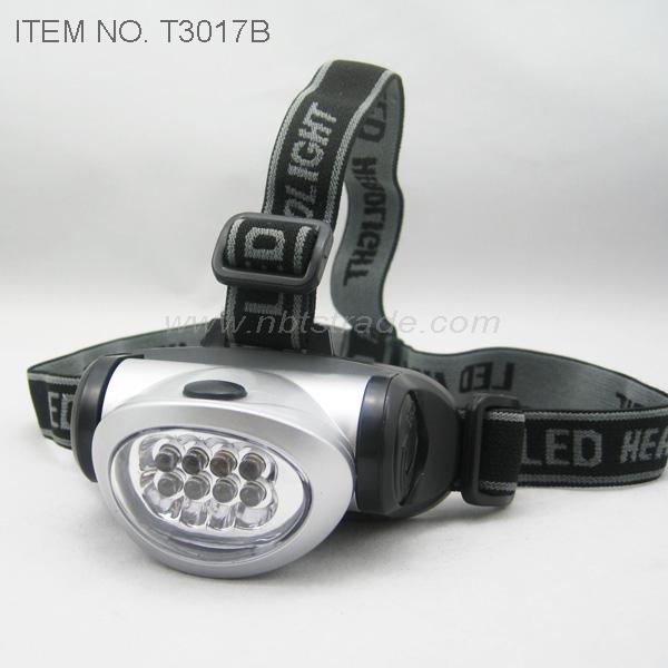 8 PCS Bright White LED Headlamp (T3017B)