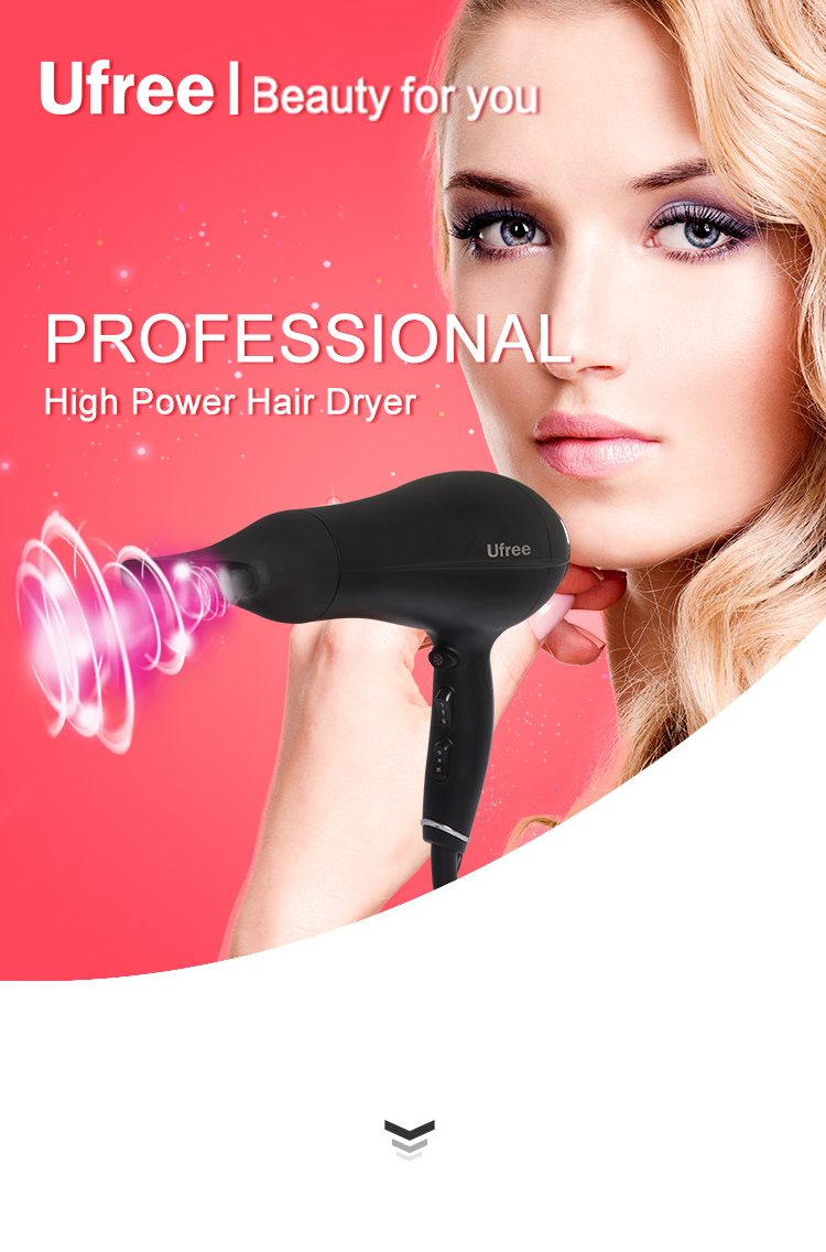 Ufree Top Quality Hair Dryer 2200W Hair Dryer with 2 Speeds