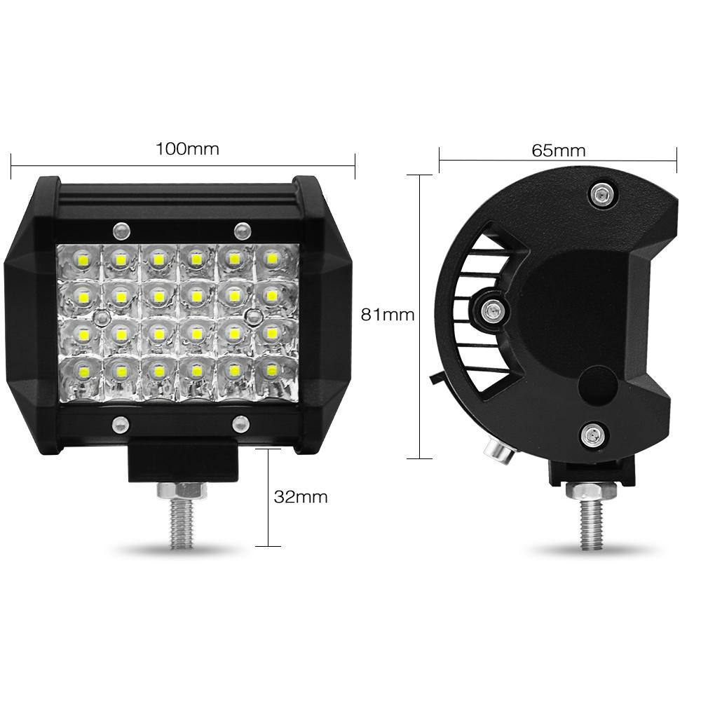 IP68 Waterproof Spot Flood Beam 72W LED Portable Work Lights