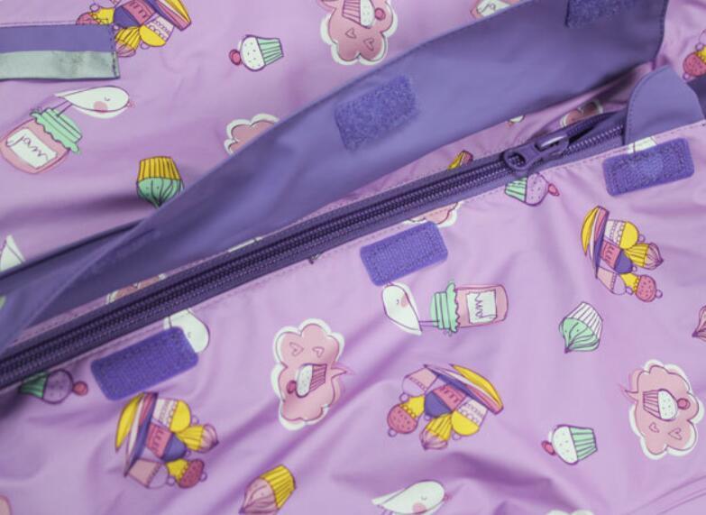 Children's Polyurethane PU Raincoat Coverall Rainsuit
