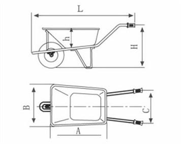 Two-Wheels Wheelbarrow/Hand Truck (WB8806)