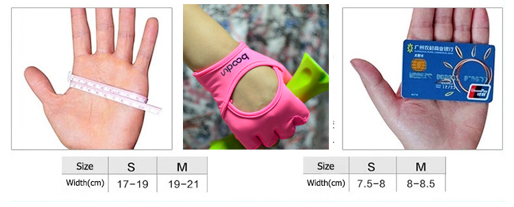 Half- Finger Fitness Gloves with Lycra on Back for Weight-Lifting