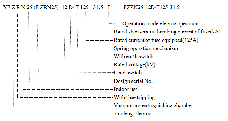 Fzrn25 Factory Supply Vacuum Load Switch with Fuse Combination