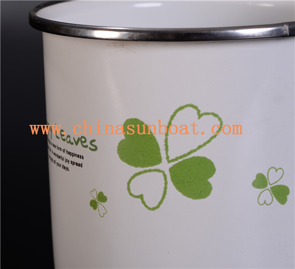Sunboat Enamel Milk Cup Enamel Mug Enamel Cup Tableware Kitchenware/ Kitchen Appliance