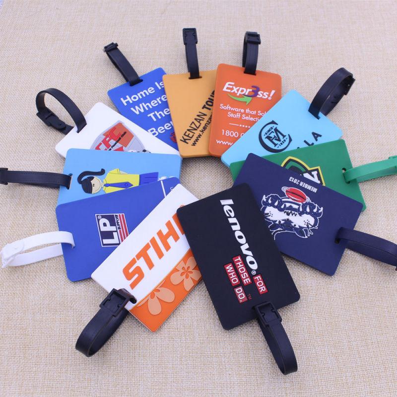 Custom 3D Soft Silicone Luggage Tag/ Rubber Bag Tag/ PVC Luggage Tag