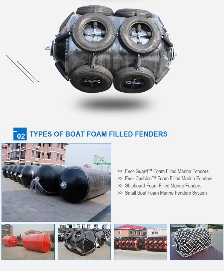 Polyethylene Closed Cell Foam Core Solid Type Marine Rubber Foam Fenders