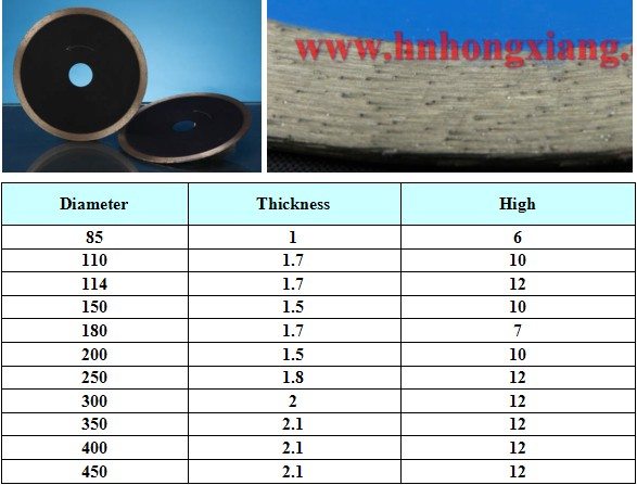 Sintered Super Thin Diamond Saw Blade/Diamond Cutting Disc for Glass