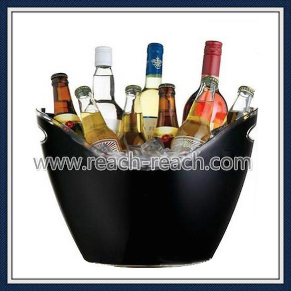 8L Big Size Double Wall Plastic Ice Bucket (R-IC0145)