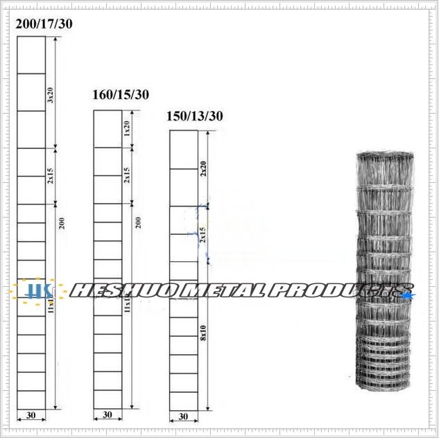 Mesh Fence for Sheep/ 1.5m Galvanized Same Hole Sheep Fence