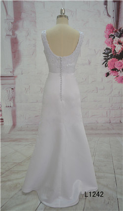 Custom Made A-Line Wedding Dress Tulle Lace Bridal Gown