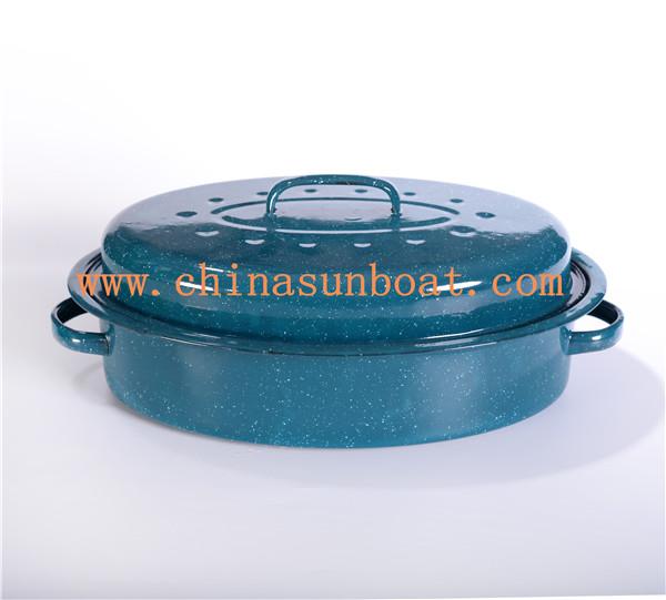 Sunboat Enamel Roaster Kitchenware/ Kitchen Appliance/Enamelware