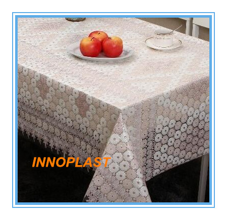 PVC Nt Lace Tablecloth in Factory Wholesales