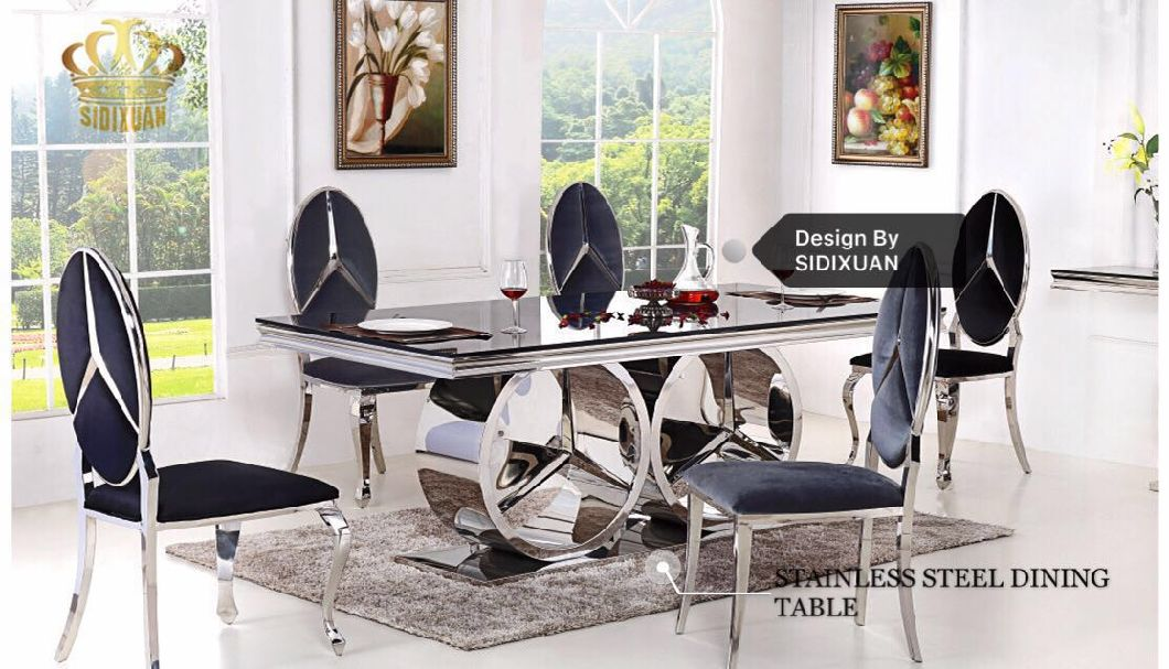 New Design Luxury Benz Dining Table and Chair with High Quality Sj916