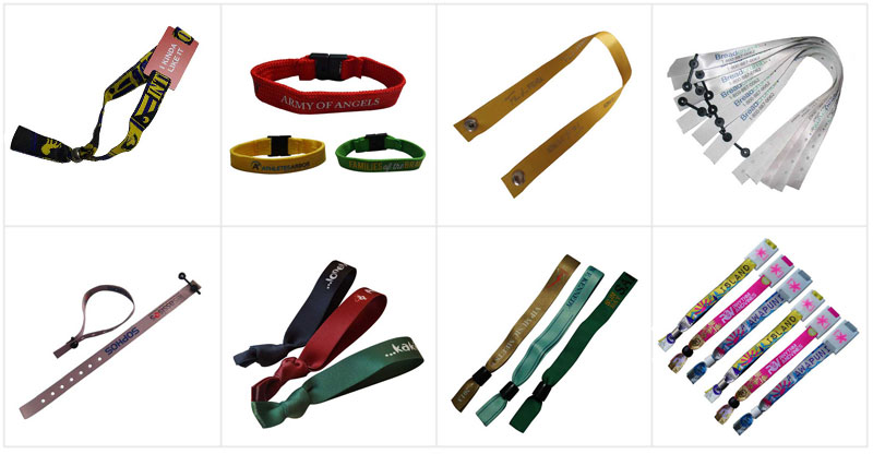 Promotional Polyester Bracelet with Metal Tag